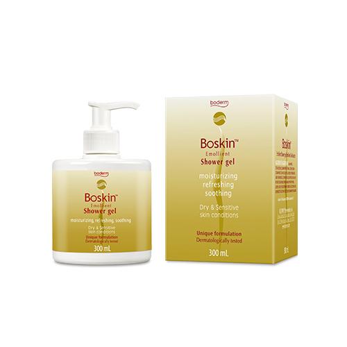 Bagnoschiuma per pelle secca Boskin Emollient Shower gel 300ml